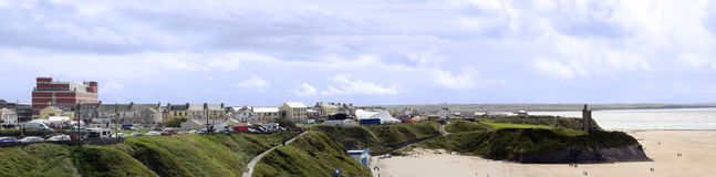 Ville et plage de Ballybunion pendant le festval Photographie stock