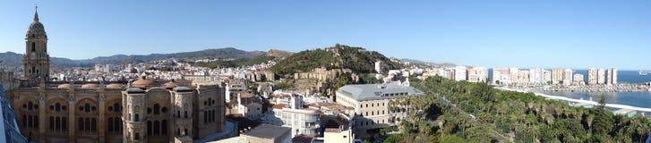 Ville et port de Malaga Photos stock