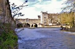 Ville exposition de cascade de Bath de longue Images libres de droits