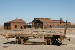 Ville fantôme dans le désert d'Atacama, Chili Photos libres de droits
