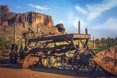 Ville fantôme de terrain aurifère, Arizona Images stock
