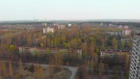 Ville fantôme Pripyat près de CN de Chernobyl, Ukraine clips vidéos