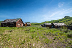 Ville fantôme au Wyoming Image stock