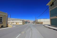 Ville fantôme Chuquicamata, Chili Photographie stock libre de droits