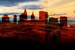 Ville fantôme de New York Images libres de droits