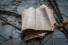 Ville fantôme de Pripyat en Ukraine Photographie stock libre de droits