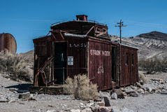 Ville fantôme de rhyolite en Californie Photo libre de droits