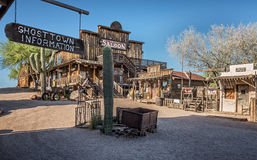 Ville fantôme de terrain aurifère en Arizona Image libre de droits