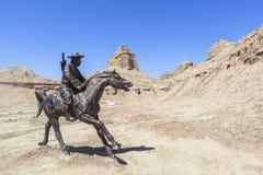 Ville fantôme du monde chez le Xinjiang Images stock