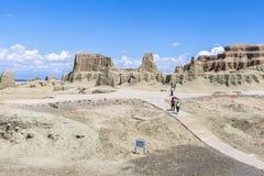 Ville fantôme du monde chez le Xinjiang Images libres de droits