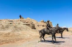 Ville fantôme du monde chez le Xinjiang Image libre de droits