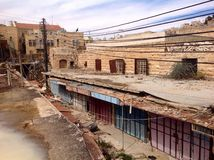 Ville fantôme Hebron, Palestine Photo stock