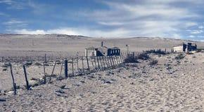 Ville fant?me - Kolmanskop - la plupart de ville fant?me populaire en Namibie images libres de droits