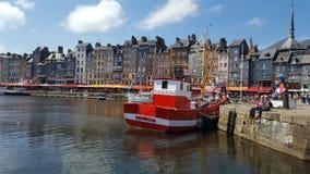 Ville française médiévale de Honfleur Image stock