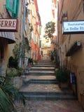 Ville Franche sur Mer, stappen Stock Foto's