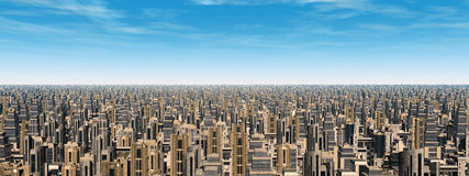 Ville futuriste Illustration Libre de Droits