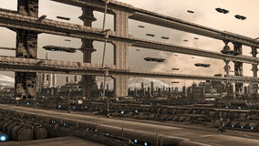 Ville futuriste Photo stock