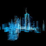 Ville futuriste d'interface d'hologramme Image stock