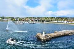 Ville gauche de mousse en Norvège photos libres de droits