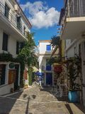 Ville Grèce de Skiathos photo libre de droits