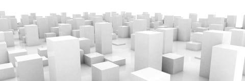 Ville grise abstraite Photo libre de droits