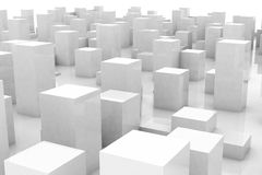 Ville grise abstraite Image libre de droits