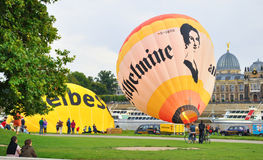 Ville guidée de Dresde par le ballon. Images libres de droits