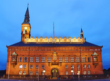 Ville hôtel de Copenhague photographie stock libre de droits