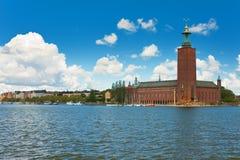 Ville hôtel de Stockholm Images libres de droits