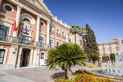 Ville hôtel, maison Consistorial, bâtiment néoclassique, Murcie, Espagne image libre de droits