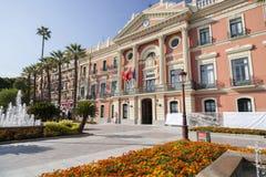 Ville hôtel, maison Consistorial, bâtiment néoclassique, Murcie, Espagne photos libres de droits