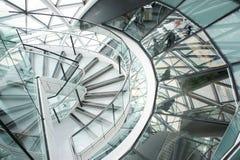 Ville hôtel spiralée d'escalier Photos libres de droits