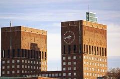 Ville hôtel d'Oslo, Norvège Photographie stock libre de droits