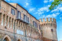 Ville hôtel dans la forteresse médiévale Photos libres de droits