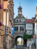 Ville hôtel dans Marktbreit, Allemagne image libre de droits