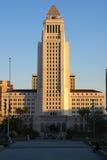 Ville hôtel de Los Angeles au coucher du soleil Photographie stock libre de droits
