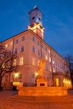Ville hôtel de Lviv Images libres de droits