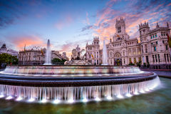 Ville hôtel de Madrid Image stock