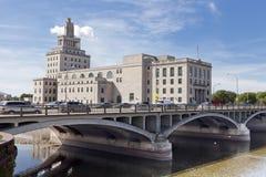Ville hôtel de Rapids de cèdre Image libre de droits
