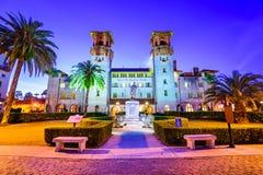 Ville hôtel de St Augustine, la Floride Photo stock