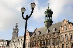 Ville hôtel gothique, Mons, Belgique de style Photo stock