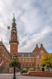 Ville hôtel, Leyde, Pays-Bas de Stadhuis photos stock