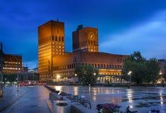 Ville hôtel ou Oslo Radhus, Norvège d'Oslo Photos libres de droits