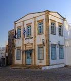 Ville hôtel sur l'île de Patmos Images stock