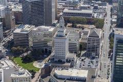 Ville Hall Aerial d'Oakland Image libre de droits