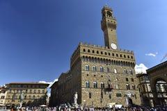 Ville Hall Palazzo Vecchio (palais de =Old), Florence, Italie image stock