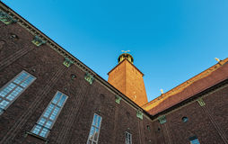Ville Hall Perspective de Stockholm photo stock