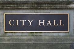 Ville Hall Sign image libre de droits