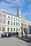 Ville Hall Square à Riga Photos stock
