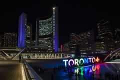 Ville Hall Toronto Sign Photos stock